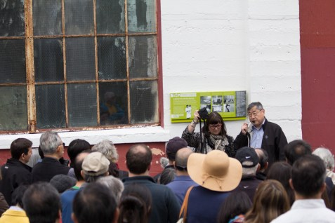Dan Tokawa at the Livestock Building