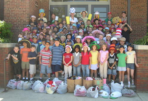 School kids in NC show off their hats!