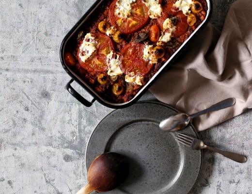 Tomaten-Bulgur-Auflauf