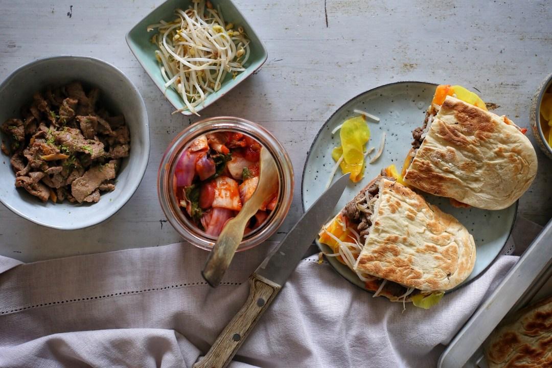 Kimchi-Sandwich mit Bulgogi