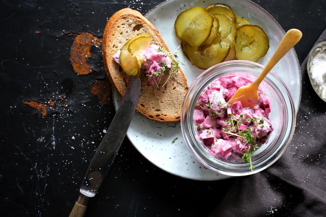 Nordische Küche Heringssalat Mit Rote Bete Und Dill