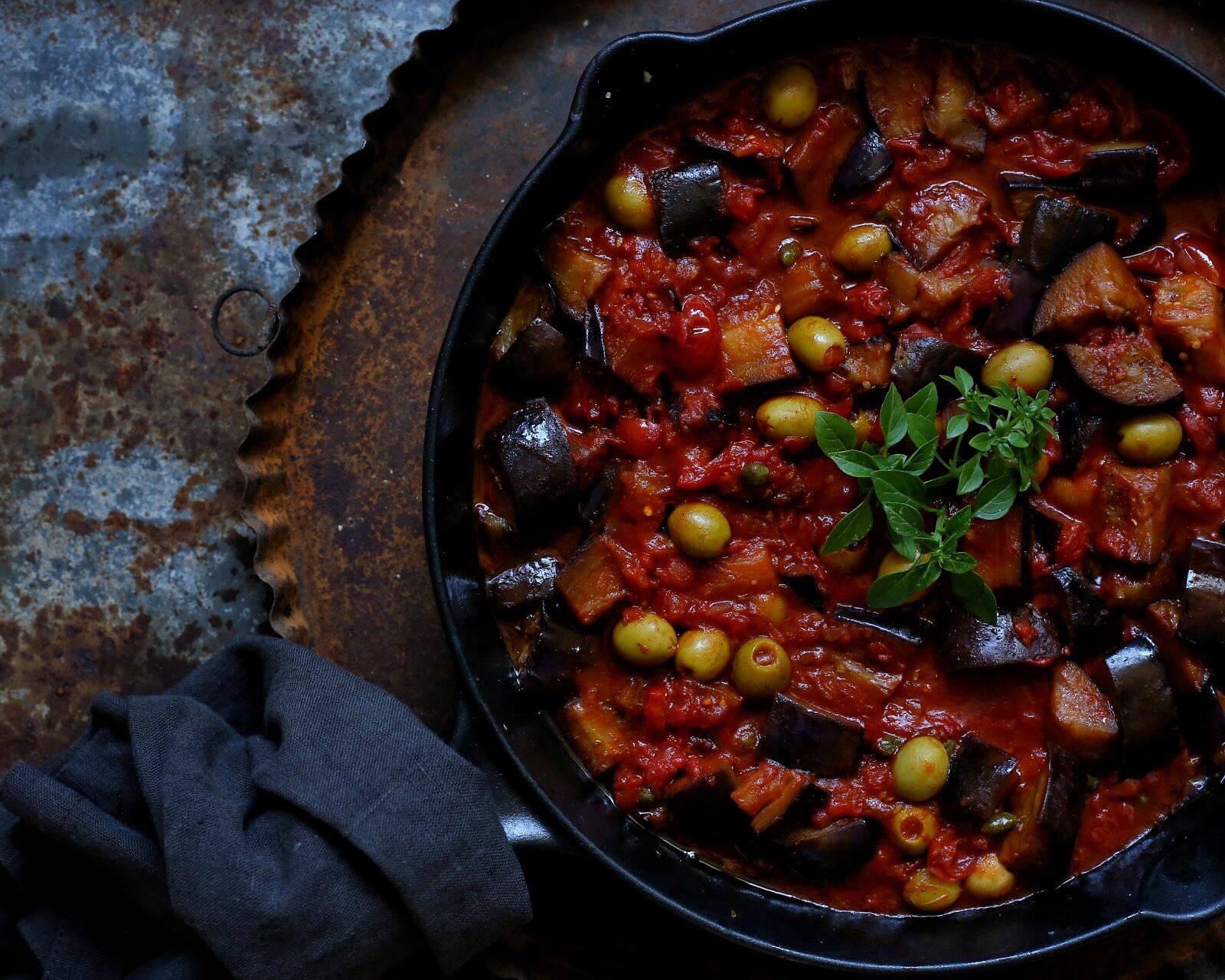 Sommerküche Tomaten : Sommerküche pasta mit auberginen kapern und oliven