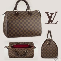 Louis Vuitton - Damier Ebene Canvas Speedy