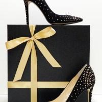 My New Black Suede, Gold Stud Embellished, Pumps