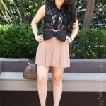 Box Pleated Skirt + H&M Bow Belt + Brunch at The Farm of Beverly Hills