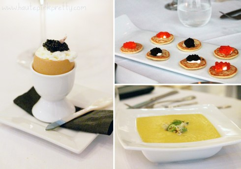 Petrossian West Hollywood - Egg Royale, Blinis and Dungeness Crab Corn Soup