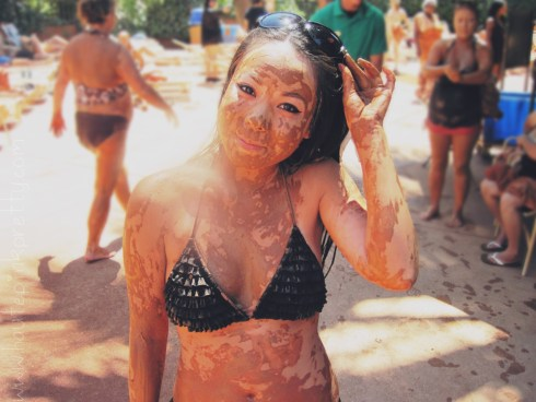 HautePinkPretty - An Dyer - Glen Ivy Hot Springs Club Mud - Red Clay Mud Bath