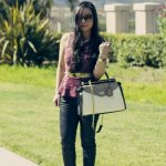 TopShop Peplum Top + SoleSociety Kelly Wedges + BCBGMaxazria Andrea Satchel