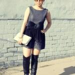 AGAIN Chaplin Dress + ChicPeek Champagne Ring + Tom Ford Carrie Sunglasses