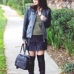Michael Stars Bomber Jacket + Pima Doll Hoody + THEIT Studded Bossi Bag