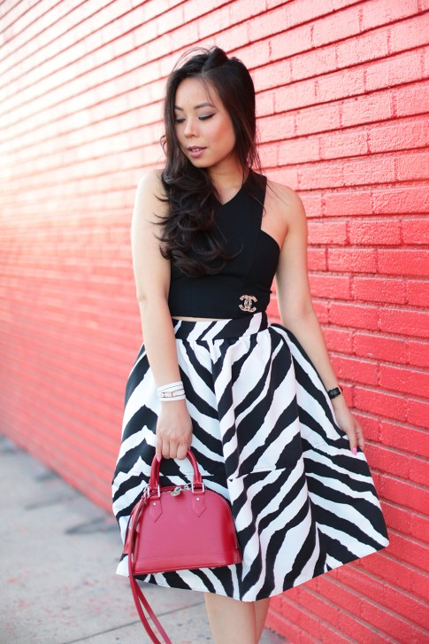 Crop Top and Midi Skirt Street Style