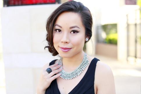 An Dyer wearing Juliet Co Necklace Bling Jewelry Clip on earrings