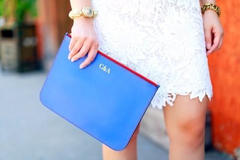 Blue Personalized Clutch