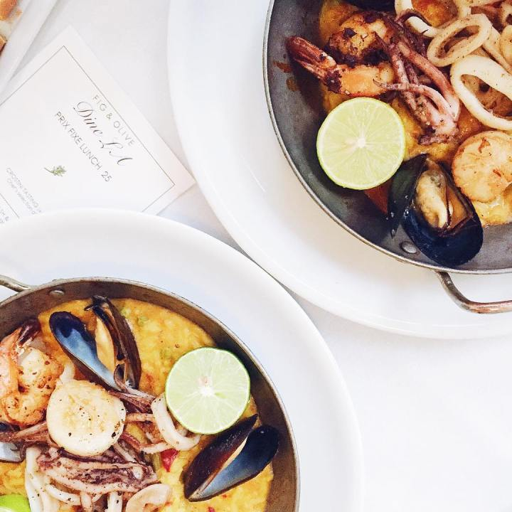 Paella feasting at figandolive to kick off dinela this week!hellip