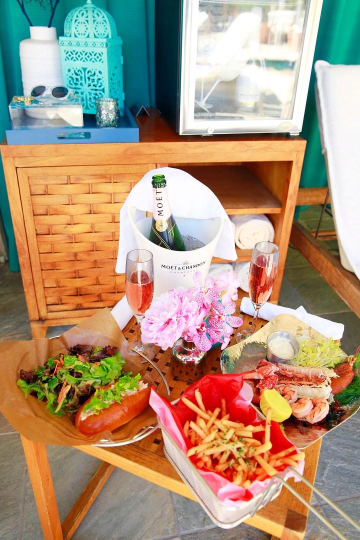 Beverly Wilshire Pool Deck Food