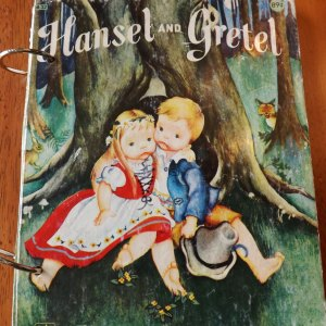 Hansel and Gretel Upcycled Little Golden Book Journal