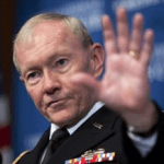 With President Watching, General Dempsey Drops Mic, Walks Off Stage In Epic Retirement Performance