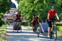 cyklovýlety s dětmi probíhají v poklidném tempu