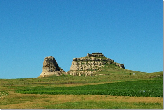 Courthouse and Jail Rocks in western Nebraska