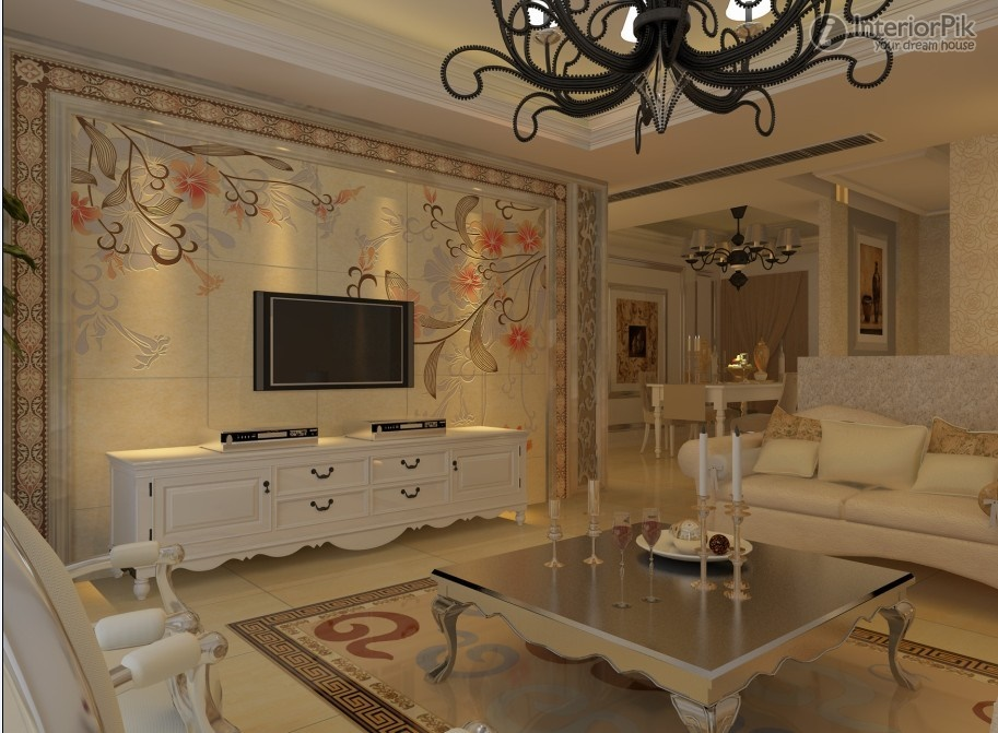 R Wall Tiles Design For Living Room Photo 5