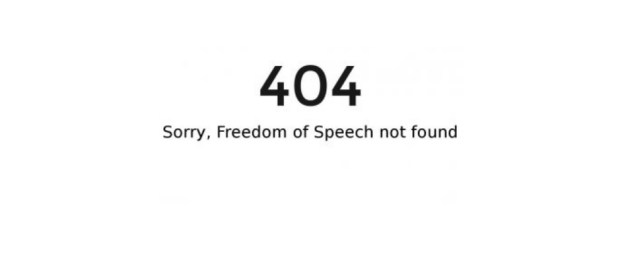 404 freedom of speech