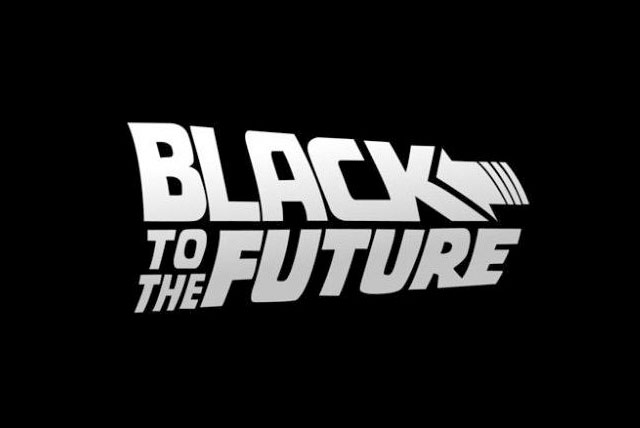 Image of a Black To The Future Logo for Black History Month.
