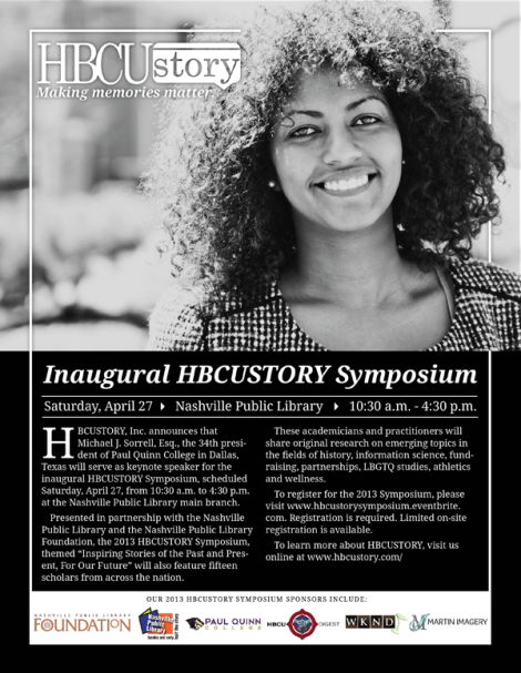 HBCUSTORY Symposium eFlyer