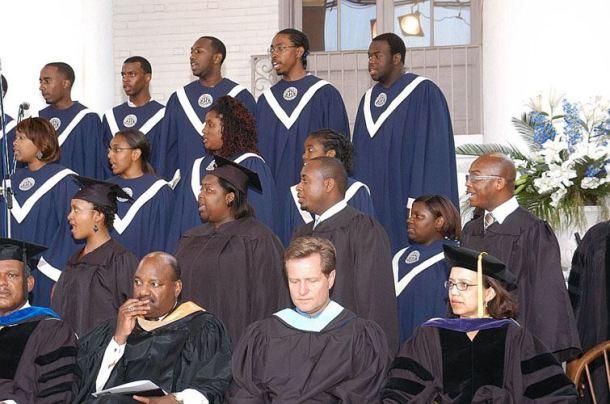 Dillard University Concert Choir in 2006. I'm the guy in the cornrows.