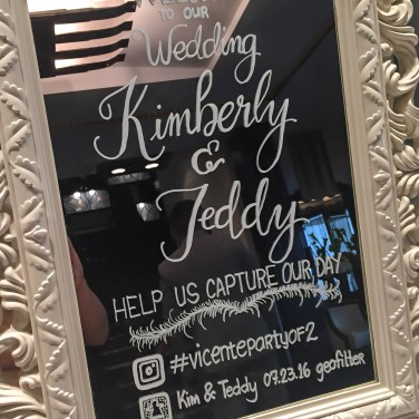 Beautiful handwritten wedding welcome sign