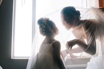 Toronto Bride and flower girl