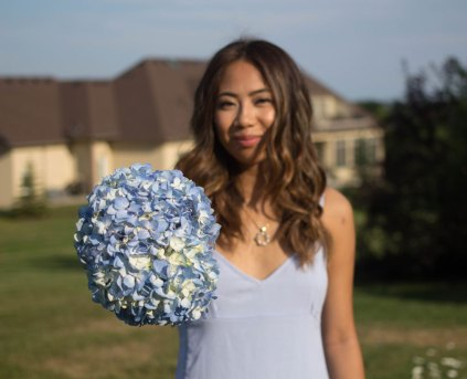 Light blue floral bouquet