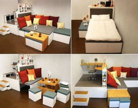 how far would you go to save space in your apartment home interiors zone finds 19 ultramodern furniture designs that conserve as much square feet modern small spaces house beautiful