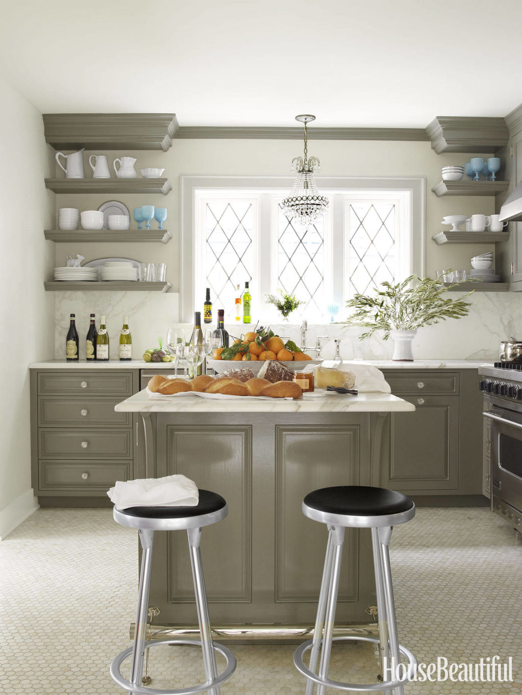 shelves kitchen cabinets open kitchen cabinets Open Shelving These 15 Kitchens Might Convince You Otherwise