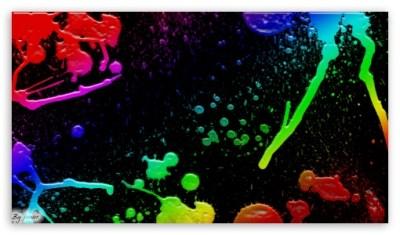 Colorful Splatter 4K HD Desktop Wallpaper for 4K Ultra HD TV • Tablet • Smartphone • Mobile Devices