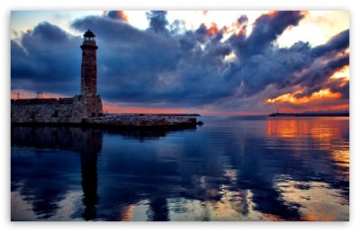 Lighthouse At Sunset 4K HD Desktop Wallpaper for 4K Ultra HD TV • Dual Monitor Desktops • Tablet ...