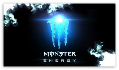 monster energy blue 4K HD Desktop Wallpaper for 4K Ultra HD TV