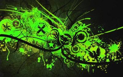 Green And Black Abstract Wallpaper 18 Background - Hdblackwallpaper.com
