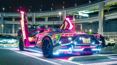 Neon Lights Lamborghini, HD Cars, 4k Wallpapers, Images, Backgrounds, Photos and Pictures