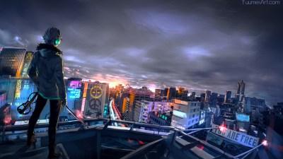 1920x1080 Cyberpunk Cityscape Laptop Full HD 1080P HD 4k ...