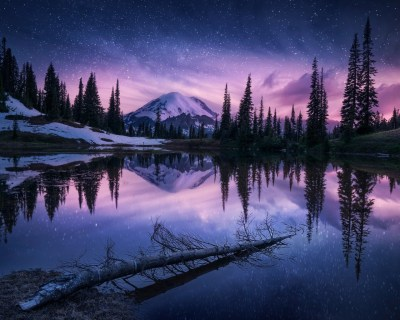 1280x1024 Lake Nature Night Reflection 1280x1024 Resolution HD 4k Wallpapers, Images ...