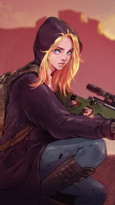 750x1334 Pubg Game Girl Fanart iPhone 6, iPhone 6S, iPhone 7 HD 4k Wallpapers, Images ...