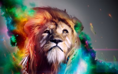 Cool Abstract Lion Backgrounds