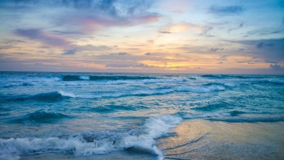 2560x1600 Ocean Waves at Sunset 2560x1600 Resolution HD 4k Wallpapers, Images, Backgrounds ...