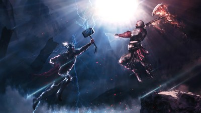 1600x900 Thor Vs Kratos 4k 1600x900 Resolution HD 4k Wallpapers, Images, Backgrounds, Photos and ...