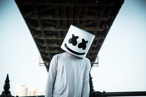Marshmello DJ Material Design Logo, HD Music, 4k Wallpapers, Images, Backgrounds, Photos and ...