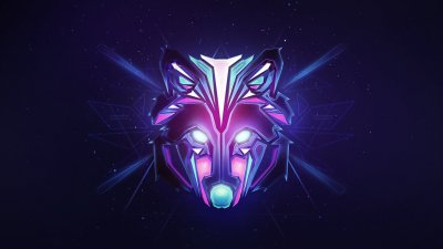 2048x1152 Wolf Colorful Minimalism 2048x1152 Resolution HD 4k Wallpapers, Images, Backgrounds ...