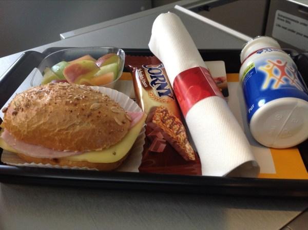 Lufthansa business class food