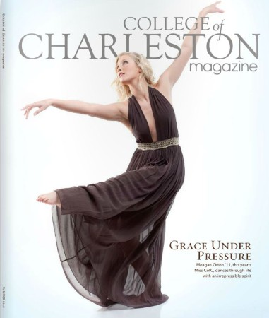 cover of cofc magazine summer 2010 photographed by fashion photographer charleston sc Diana Deaver (2)