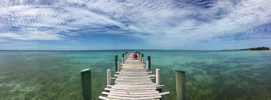 fishing dock blue water eleuthera bahamas