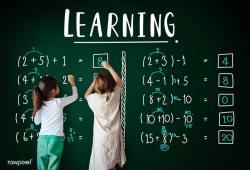 Kid Blackboard Math
